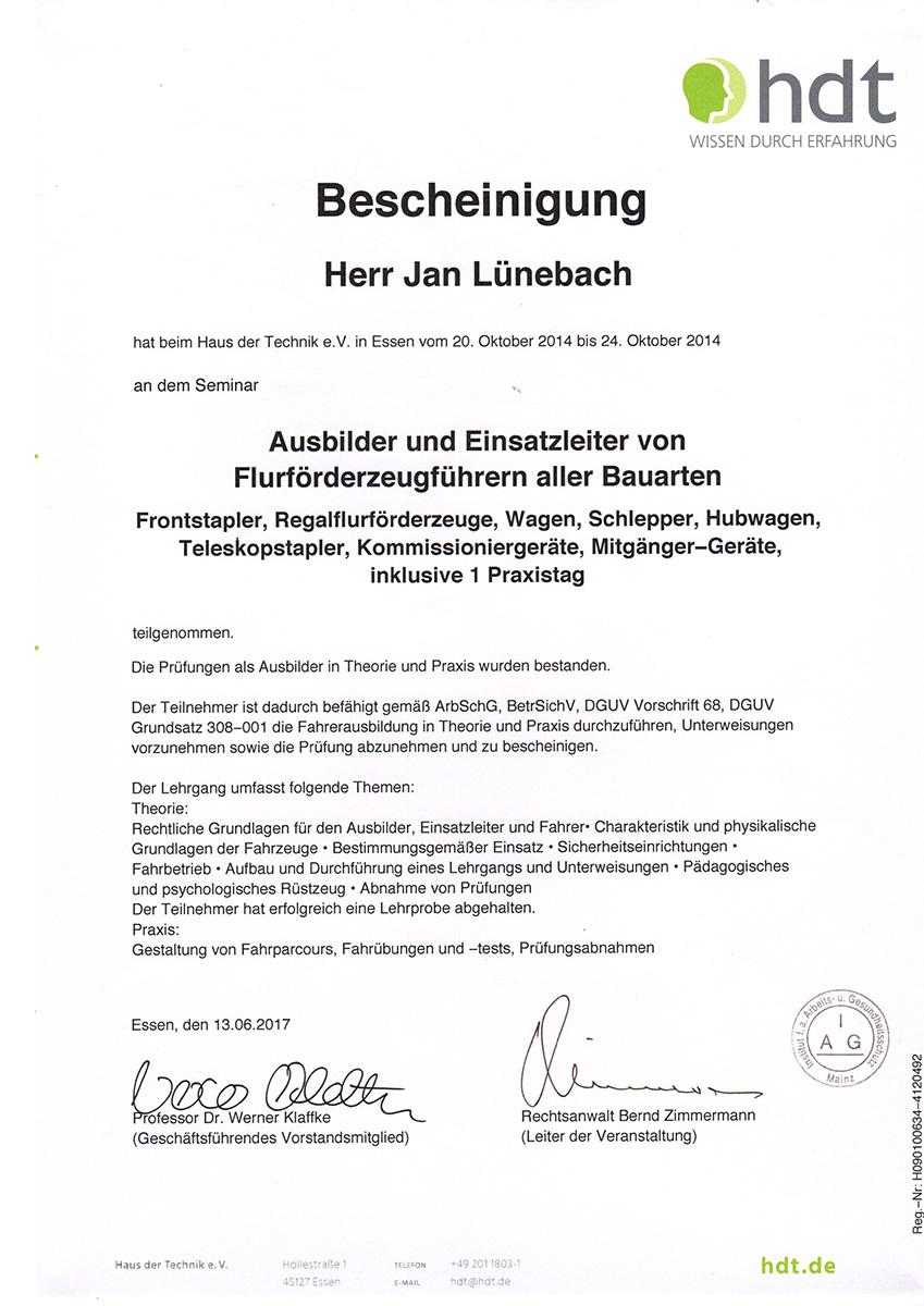 Gemütlich Gabelstapler Zertifizierung Kartenvorlage Galerie ...